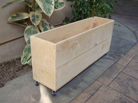 Planter On Wheels by Custom Wood Planter On Wheels Flower Boxes Custom Size