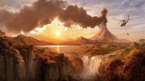 volcano eruption wallpapers group