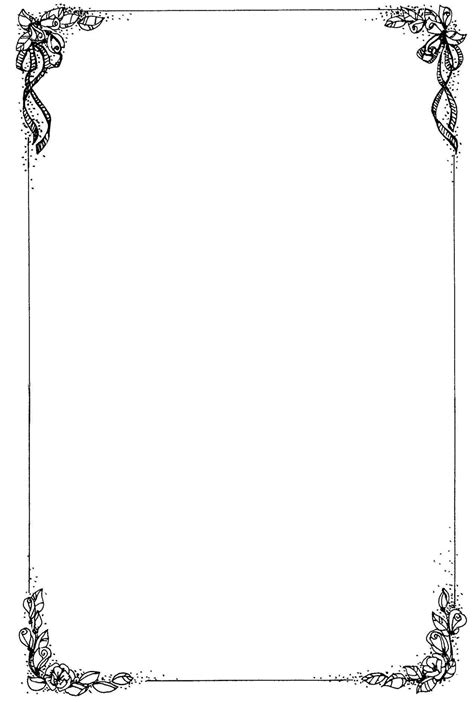 Free Wedding Border Templates For Word by Free Printable Borders For Word Documents Template