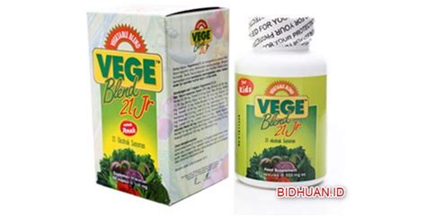 Vitamin Fruit 18 Junior vegeblend dan fruitblend produk suplemen anak dan ragam