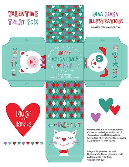 printable paper treats free valentines day printable boxes crafting pinterest