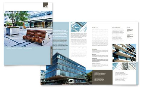 architectural templates architect brochure template design