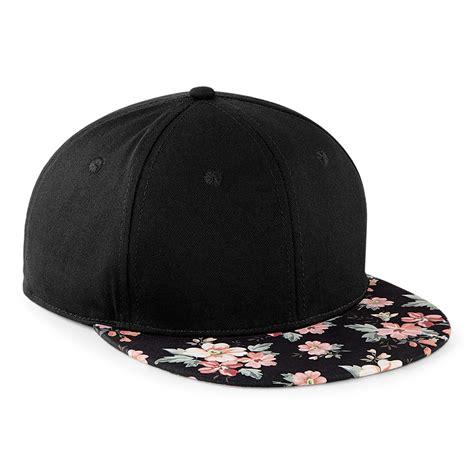 baseball cap flat peak snapback hat rapper hip hop pattern