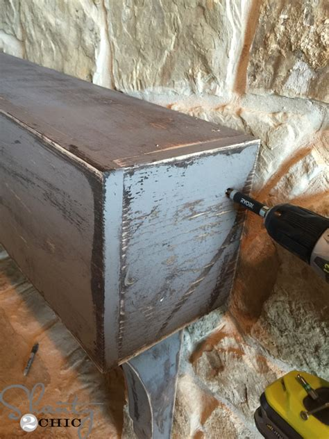 How To Attach Mantle To Brick Fireplace by How To Build And Hang A Mantel On A Fireplace
