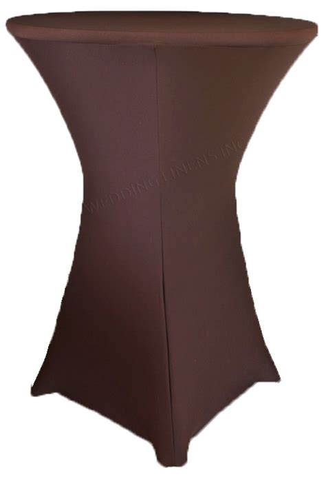 spandex highboy table cover chocolate cocktail highboy spandex table covers 30 inch