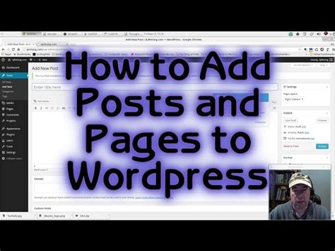 wordpress tutorial series how to add posts and pages to wordpress tutorial 4