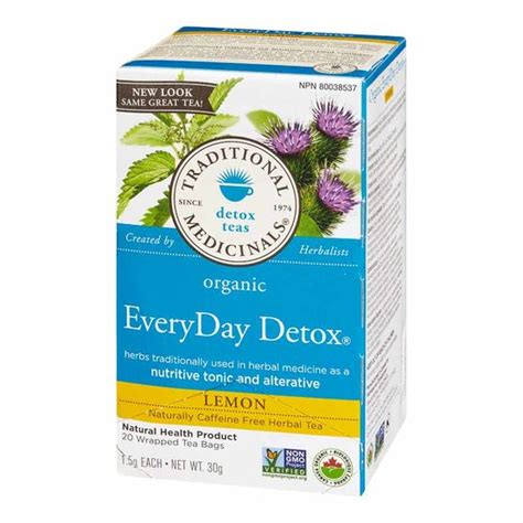 Traditional Medicinals Detox Tea Lemon by Traditional Medicinals Herbal Tea Organic Lemon Everyday