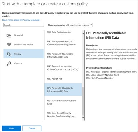 office and regulations template overview of data loss prevention policies office 365
