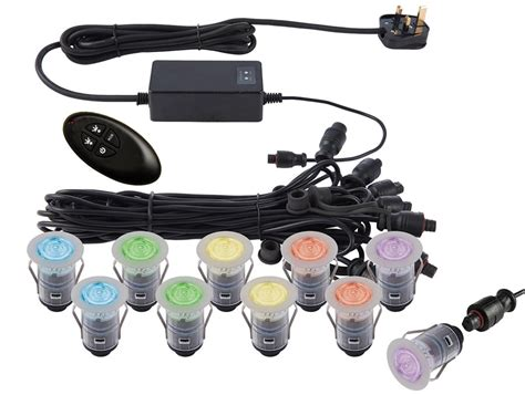 Ikon Pro 10 Light 25mm Remote Rgb Led Deck Lighting Kit Rgb Led Light Kit