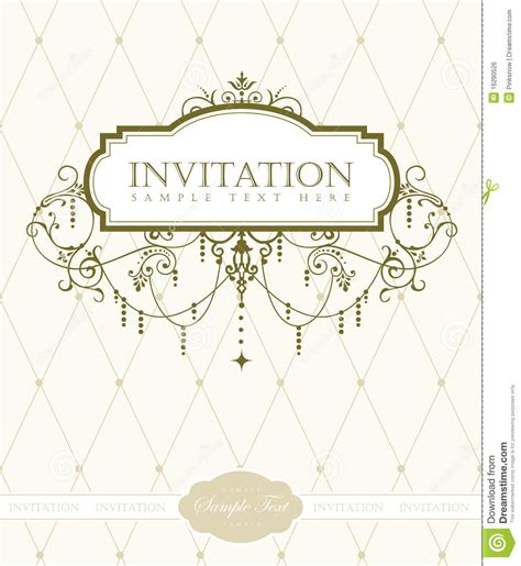Invitation Card Template by Invitation Card Template Royalty Free Stock Image Image