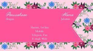 template kartu nama girly contoh cartu nama kecantikan salon pijat dan spa
