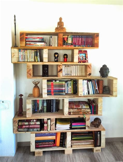 1000 ideas about pallet bookshelves on