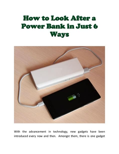 how to use a power bank how to look after a power bank in just 6 ways