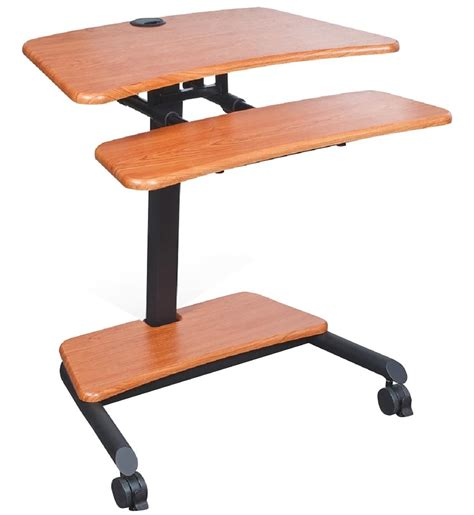 stand up laptop desk 2 locking casters
