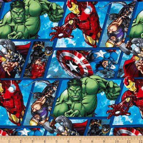 Discount Country Home Decor by Marvel Avengers Assemble Avenger Grid Multi Discount