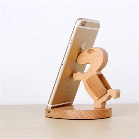 Wooden Smartphone Holder 1 goestime portable universal phone wood holder stand for