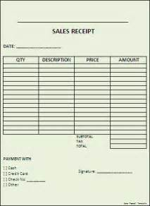 Sales Slip Template by Sales Receipt Template Word Templates