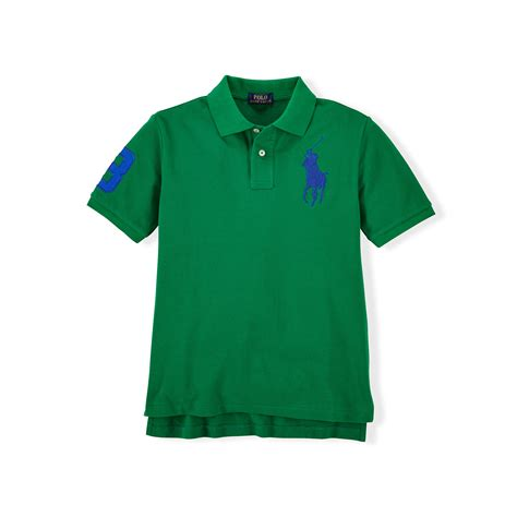 Polo 128 06 Chest Bag Green lyst ralph custom fit big pony polo shirt in