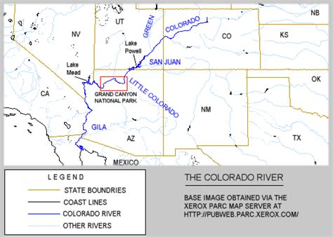 where does the colorado river start and end the colorado river