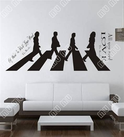 all you need is the beatles large wall decal sticker