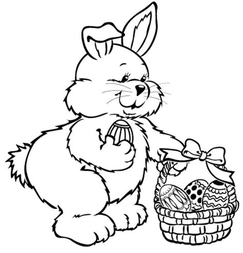 cute easter bunny coloring pages coloring home