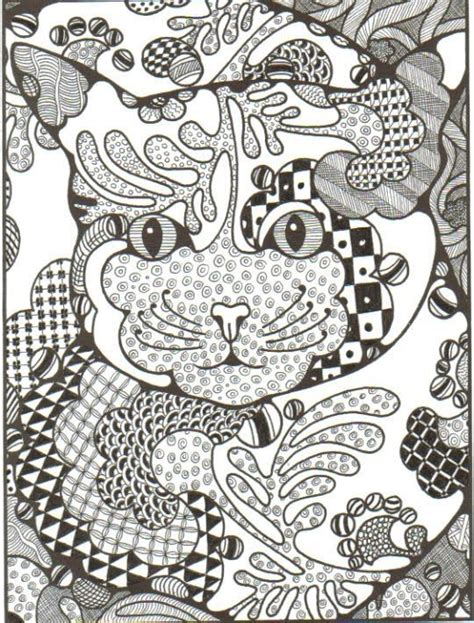 cat zentangle coloring page zentangle cat arte pinterest coloring cute cats
