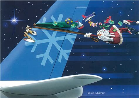 aviation theme christmas greeting cards 18 box