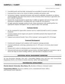 Sle Retail Manager Resume by Retail Sales Manager Resume Exle 2 Ilivearticles Info