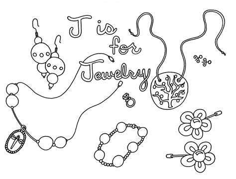 printable coloring pages jewelry jewelry coloring pages to print rejects wenchkins abcs of