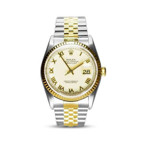 Rolex Oyster Perpetual Gold preowned rolex oyster perpetual datejust steel gold mens
