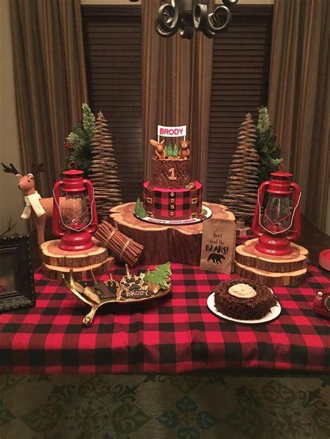 Lumberjack  Ee  Party Ee   Themed  Ee  Baby Ee   S Ers Lumberjack