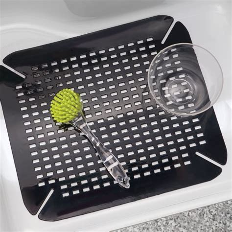 Kitchen Sink Mats Black Interdesign Contour Kitchen Sink Protector Mat Black Home Garden Dining Tools Utensils Mats Grids