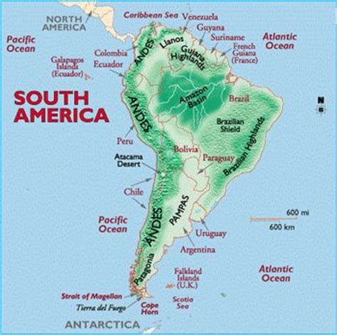 map of america with mountains mountains general geology of south america maps n
