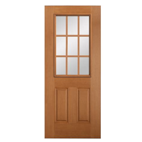 Wood Exterior Doors Lowes with Shop Reliabilt Douglas Fir Wood Door Common 80 In X 36 In Actual 80 In X 36 In At Lowes
