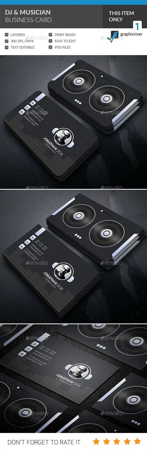 Dj Card Template by 25 Best Ideas About Dj Business Cards On