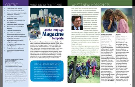 Magazine Layout Templates Free free exclusive adobe indesign magazine template