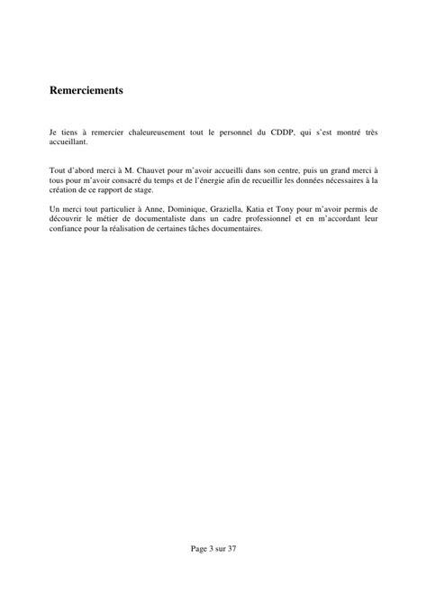 Lettre De Remerciement Ecole Maternelle M 233 Moire De Stage Au Cddp De La Sarthe