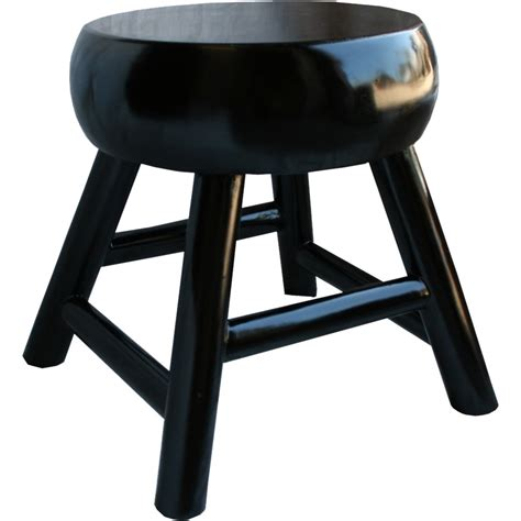Thick Black Stool by Black Stool Thick Seat One Of Wood