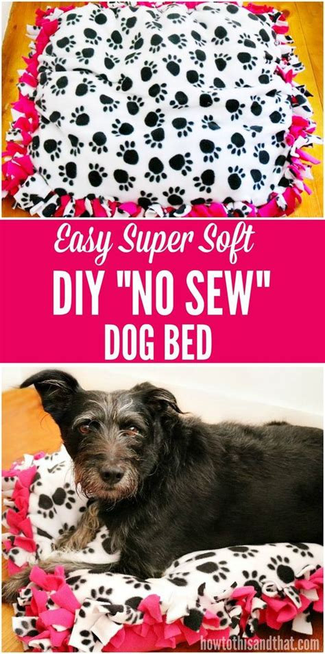 no sew dog bed dog beds no sew and sew on pinterest