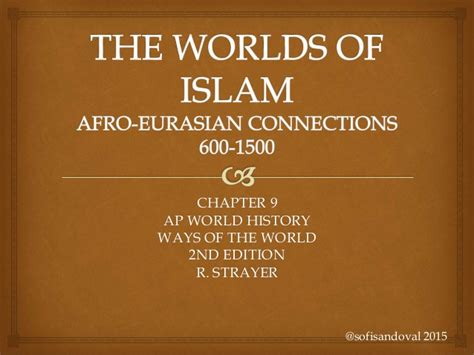 chapters in the history of the in the isles classic reprint books chapter 9 world of islam afro eurasian connections ways