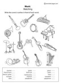 instruments matching b amp w worksheets projects with my