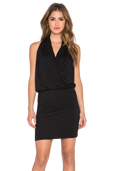 Black Arine Dress lyst amour vert aline stretch jersey dress in black