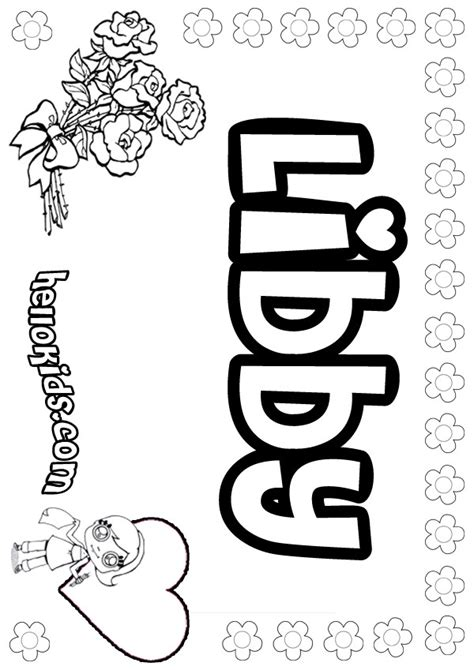 Libby Coloring Pages Hellokids Com