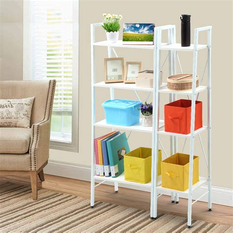 small ladder bookcase ladder 4 tier bookcase storage rack display stand shelf