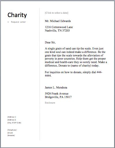 charity care letter of support sle sle charity letter free sle letters