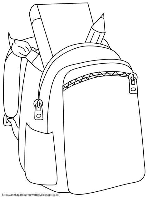 Merk Lipstik Untuk Anak Sekolah gambar mewarnai tas sekolah untuk anak paud dan tk