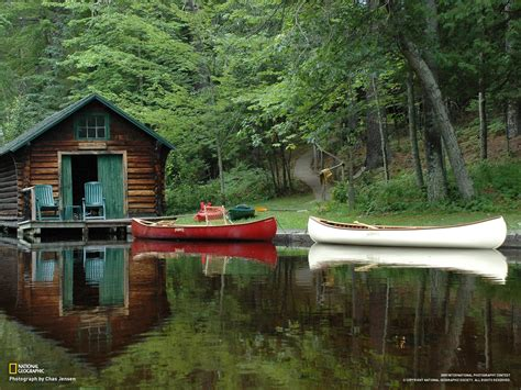 Cabins In Northern Wisconsin by Bois Brule River Wisconsin