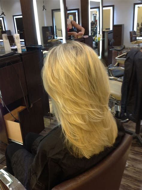 best stylist for long layers in dc medium length cascading layers on long hair with pattern