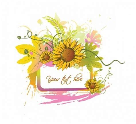 clipart vettoriali gratis summer floral vector free