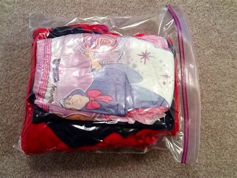 carry on toddler emergency pack pack a few zip lock bags